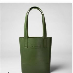 HUNTER for Target Rubber Tote Bag in Olive NWT
